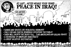 Peace in Iraq by Wolverton