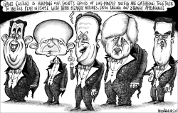 Dubious Image of British Shadow Cabinet  by Brian Adcock