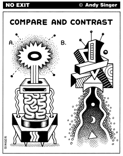 Compare and Contrast Abstract Doodles by Andy Singer