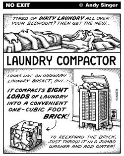 Laundry Compactor by Andy Singer