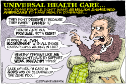 Why No Universal Health Care  by Wolverton