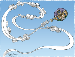 Housing Balloon  by Daryl Cagle