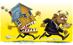Mortgages and Wall Street  by Daryl Cagle