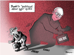 Karl Rove quits by Paresh Nath