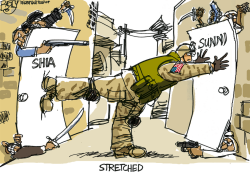Stretched Troops by Pat Bagley