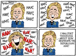 Hillarys Laugh  by Bob Englehart