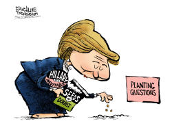 Hillary plants more questions- by Eric Allie