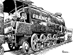 Reforms &  Strike in France by Paresh Nath