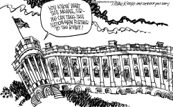 White House Right by Mike Keefe