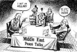 BUSH in the MIDDLE EAST by Patrick Chappatte