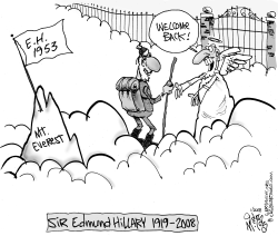 Sir Edmund Hillary by Gary McCoy