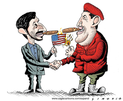Ahmadinejad and Chavez --  by Osmani Simanca