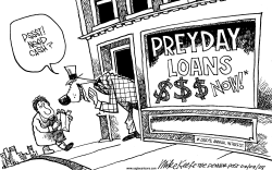 PreyDay Loans by Mike Keefe