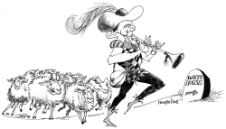 Pied Piper Obama by Michael McParlane