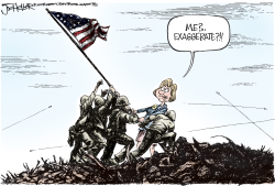 Hillary Misspoke- by Joe Heller