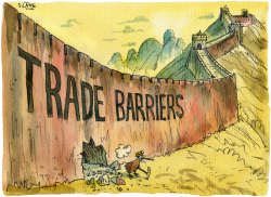 Great Trade Wall Of China Breached- colour by Chris Slane