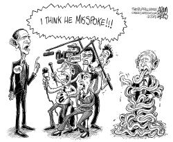 Obama Misspoke by Adam Zyglis
