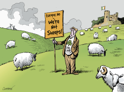 IRELAND SAYS NO to Europe by Patrick Chappatte