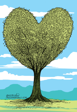 Love for the Tree --  by Arcadio Esquivel