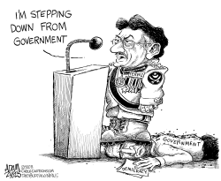 Pervez Stepping Down by Adam Zyglis