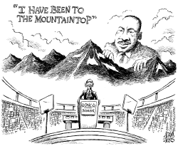 Obama Mountaintop by Adam Zyglis