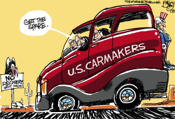 Big Three Carmakers by Pat Bagley