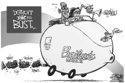 To the Bailout-mobile BW by John Cole