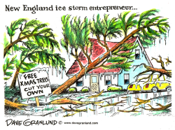 New England ice storm by Dave Granlund