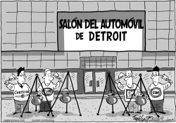 Salon del Automovil de Detroit by Bob Englehart