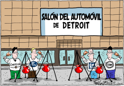 Salon del Automovil de Detroit /  by Bob Englehart