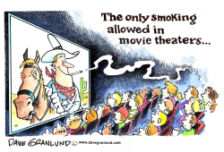 On screen cigarette smoking by Dave Granlund