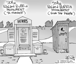 Roland Burris Monument by Gary McCoy