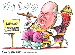 Rush Limbaugh GOP Dictator by Dave Granlund