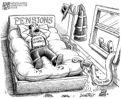 Bloated State Pensions by Adam Zyglis