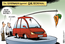Redesigned GM  by Nate Beeler