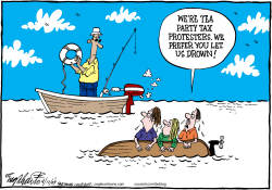 Tea Party  by Bob Englehart