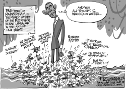 Obama critics by David Fitzsimmons