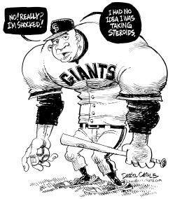 Steroids and Bonds by Daryl Cagle