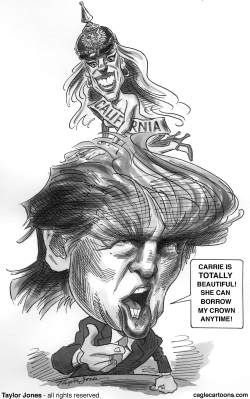 Donald Trump and Miss California by Taylor Jones