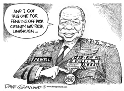 Colin Powell and GOP by Dave Granlund