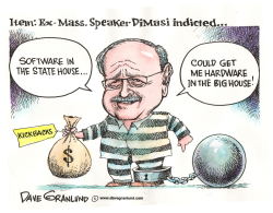 Ex MA House Speaker indicted by Dave Granlund