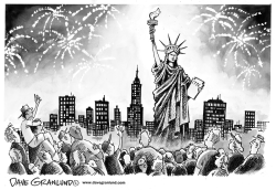 Statue of Liberty reopens by Dave Granlund