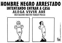 Hombre Negro Arrestado by Mike Lane