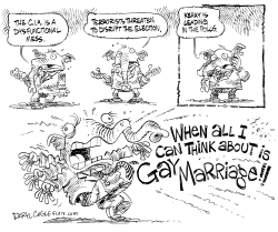GOP and Gay Marriage Debate by Daryl Cagle