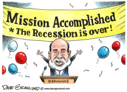 Recession is over by Dave Granlund