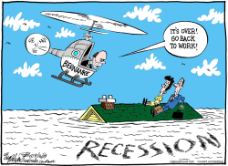 Recessions Over  by Bob Englehart