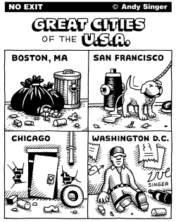 Great Cities of the USA part 1 by Andy Singer