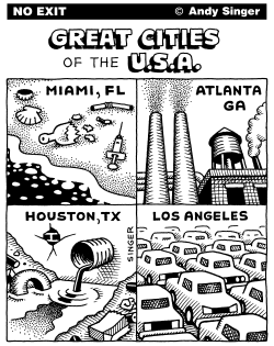 Great Cities of the USA part 2 by Andy Singer