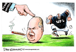 Rush Limbaugh and NFL by Dave Granlund