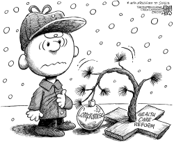 Charlie Brown Health Care Reform by Adam Zyglis